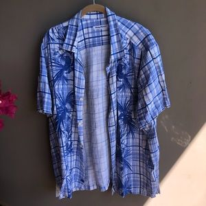Plaid Blue Tommy Bahama Button Down